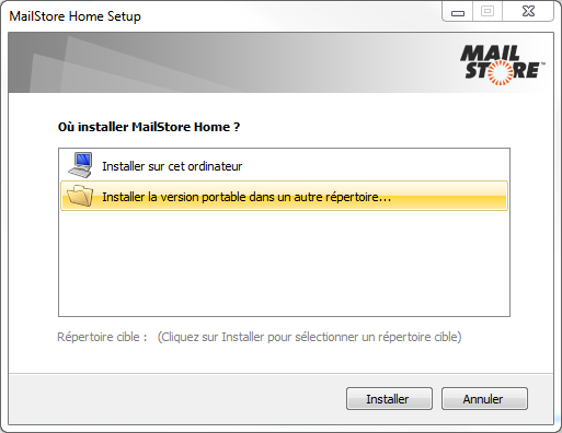 MailStoreHome SetupVersionPortable
